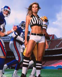 美式足球女裁判高清图片