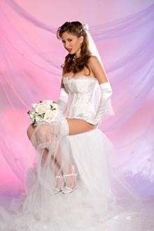 白婚纱的欧美新娘高清写真