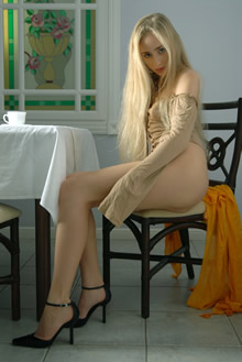 金发欧美模特写真高清图片