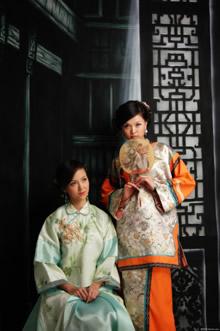 清代服装美女写真高清图片