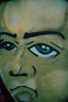 前卫手绘艺术竖式壁纸图片